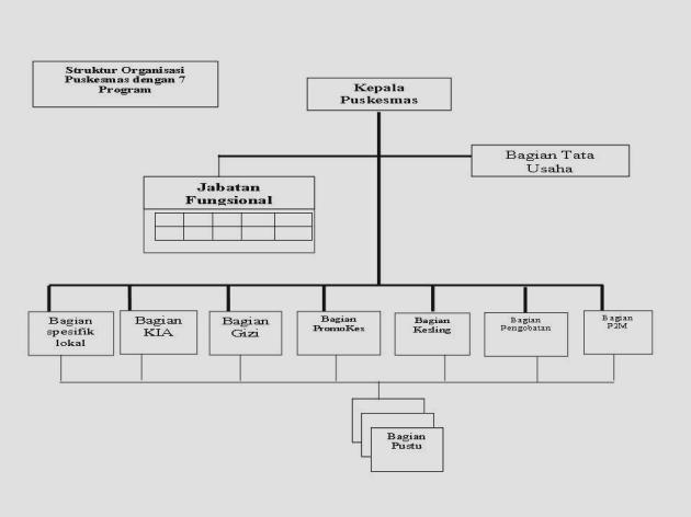 Struktur Organisasi dalam sistem Puskesmas