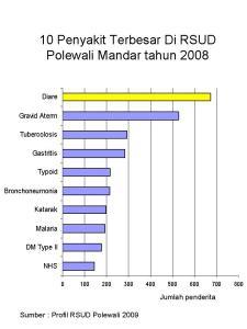Penyakit Diare Tertinggi di RSUD Polewali