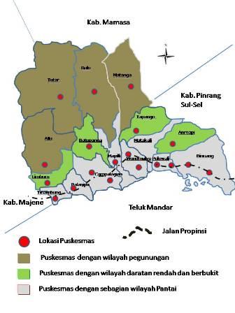 Lokasi Puskesmas di Polewali Mandar