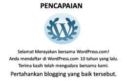 10 tahun bersama wordpress